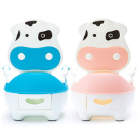 Seat Potty Cartoon Cushion Brush Drawer Baby Training Pan Toilet Portable Dairy Cattle
