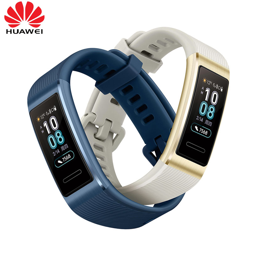 2019 Newest Huawei Band 3 Pro 0 95 inch support GPS NFC Tracker Swimming Waterproof Bluetooth