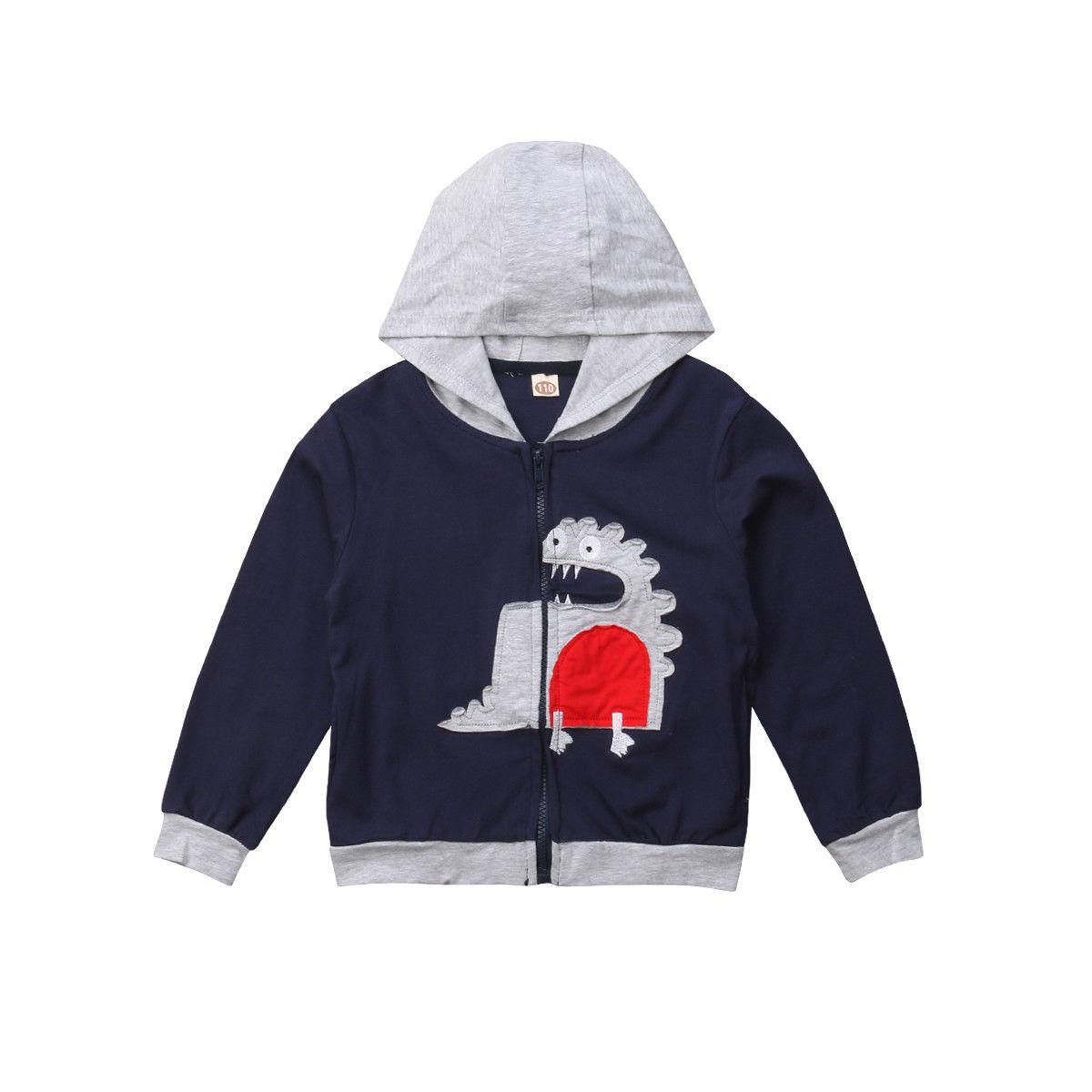 1-6 T Infant Kinder Mädchen Junge Dinosaurier Cartoon Mit Kapuze Hoodie Top Winddicht Jacke Oberbekleidung Mode Nette Mantel Kleidung Streetwear