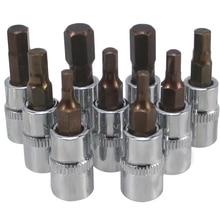 1 Pc 37 Mm 1/4 Dr Hex Inbussleutel Bit Socket Gereedschap H2mm/2.5 Mm/3 Mm/4 Mm/5 Mm/6 Mm/7 Mm/8 Mm/10 Mm