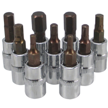 1 pièce 37mm 1/4 Dr clé hexagonale Allen outils de prise de clé H2mm/2.5mm/3mm/4mm/5mm/6mm/7mm/8mm/10mm