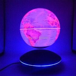 Lámparas de noche para mesa con diseño de globo de levitación creativa para LED magnético, regalos para niños, lámpara de noche con mapa del mundo, Bola de Plasma para chico