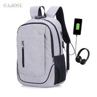 Brand USB Charging External Backpack Anti Theft Men Backpacks Oxford Laptop Backpacks Teenage Backbag Women Male Shoulder Bag