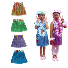 ed720e190a6b Hawaii Party Decorations Kids Girls Adult Beach Flower Necklace Wreath Hula  Hawaiian Skirt Funny Dress Birthday