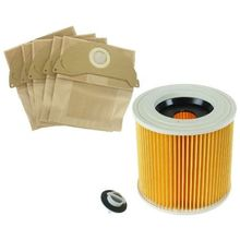 for Karcher Wet & Dry Vacuum Cleaners Bags and Filter Set