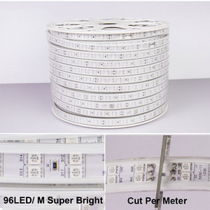 Image 2 - 13 30M Double Row RGB LED Strip 96LEDs/M 5050 220V Color Change Light Tape IP67 Waterproof LED Rope Light +IR Bluetooth Control