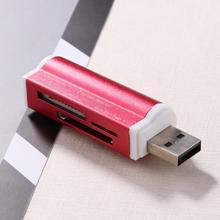 1 шт. USB2.0 4 в 1 Алюминиевый сплав Мульти устройство чтения карт памяти SD/SDHC/Mini SD/MMC/TF карта многофункциональное устройство для чтения карт памяти