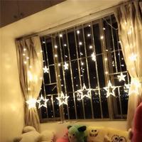 Luzes Estrela LED Luzes Decorativas Estrelado Cortina Quarto do Dormitório Lâmpada Luz Cordas Bateria USB Dual use o Controle Remoto   -