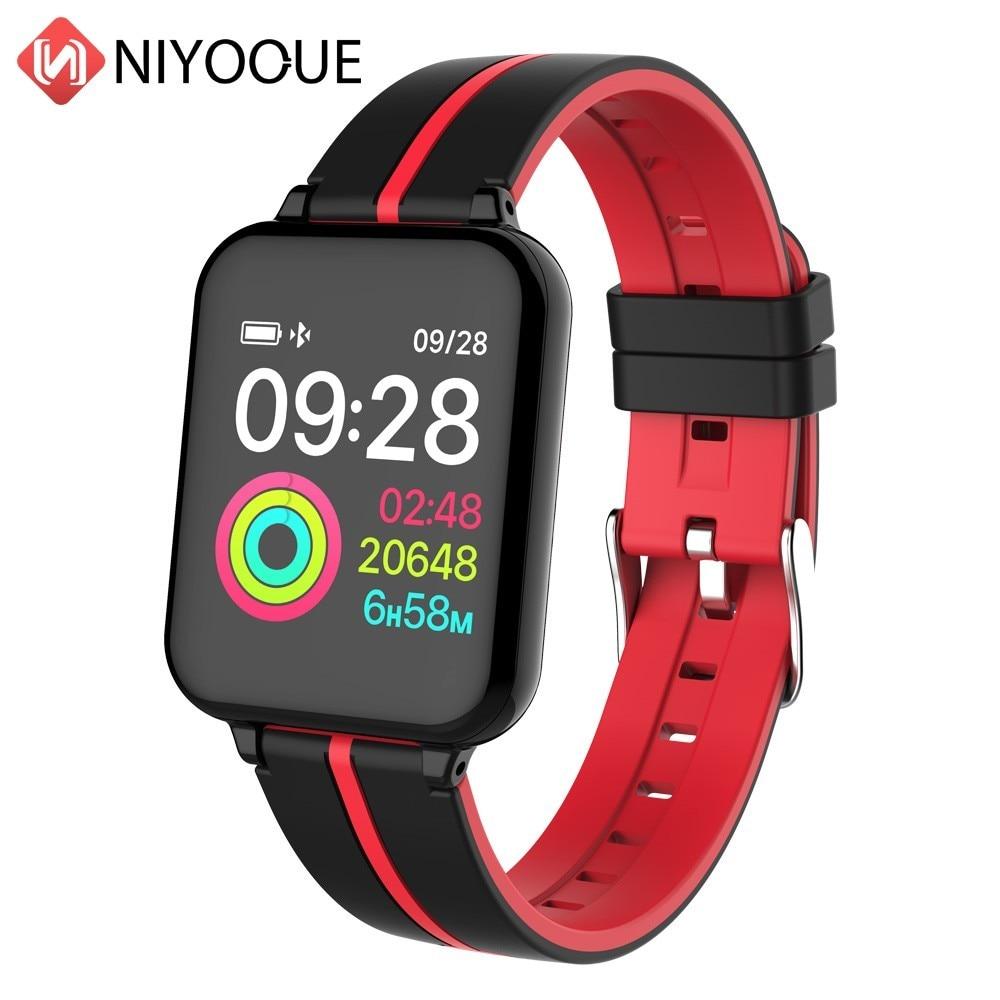 Spor Akıllı Saatler Android İzle Kadın Erkek Su Geçirmez Akıllı İzle Ile Kalp Hızı Kan Basıncı IOS telefon Için Smartwatch