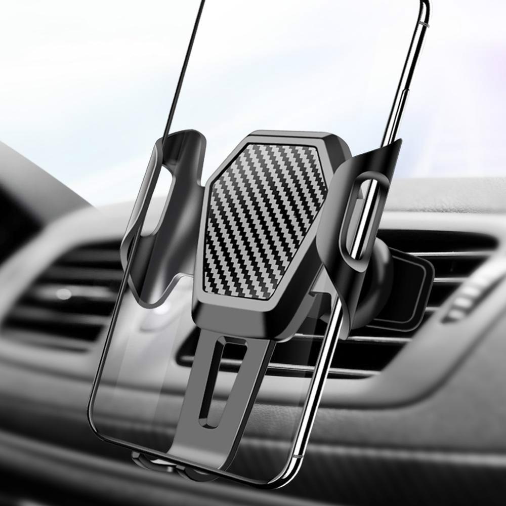 ANMONE Memory Car Phone Holder Universal Mobile Phone Big Car Holder Gravity Socket Anti-shake Car Air Vent Mount Stands