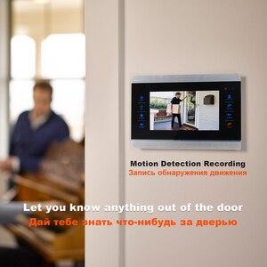 Image 2 - HomeFong וידאו אינטרקום וידאו דלת טלפון פעמון אינטרקום לבית Wired 7 אינץ HD צג 1200TVL וידאו פעמון תמיכת טלוויזיה במעגל סגור