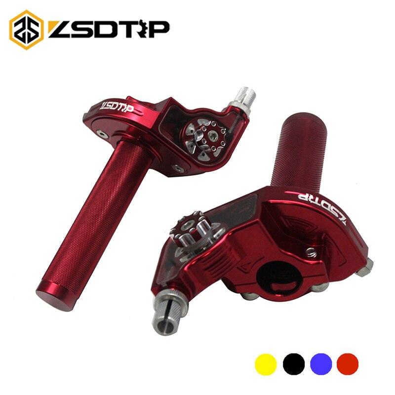 ZSDTRP CNC Adjustable Aluminum Throttle Grips Settle Twist Gas Throttle Handle For 110-250cc Dirt Pit Bikes Modified