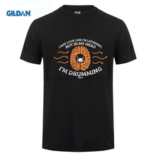GILDAN In My Head Im Drumming T-SHIRT Drums Musician Band Drummer Funny Gift Birthday T Shirt Unisex More Size and Colors стоимость