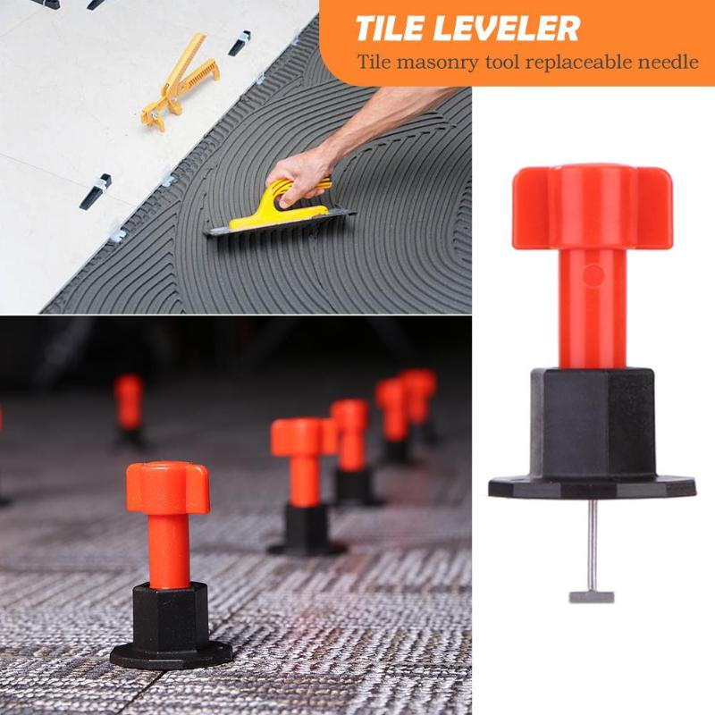75pcs/set Level Wedges Tile Spacers For Flooring Wall Tile Carrelage Leveling System Leveler Locator Spacers Replaceable Needle