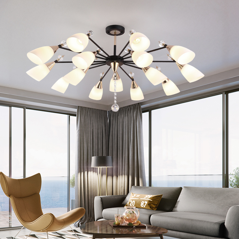Us 91 12 19 Off Modern Led Chandelier Lighting For Living Room Bedroom Indoor Fixtures Home Hanging Lamp Iron Design Art Contemporary In