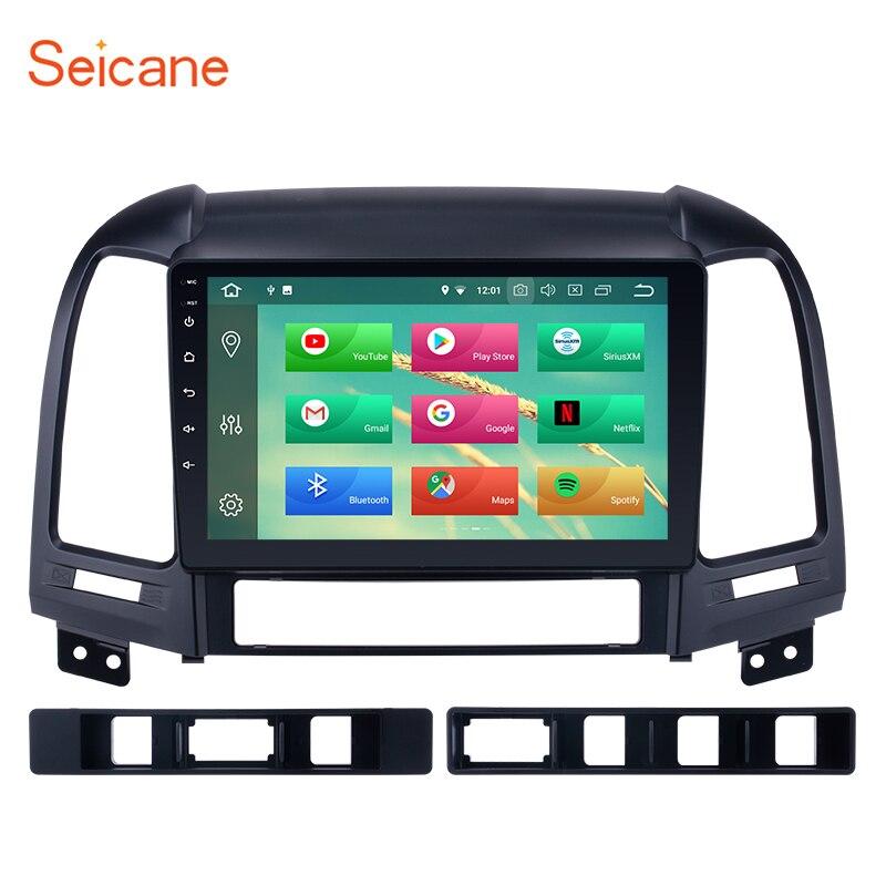 Seicane 1Din 4G + 32G Android 8.1/8.0 9 pouces Autoradio Pour Hyundai SANTA FE 2006 2007 2008 2009 2010 2011 2012 GPS Unité de Tête