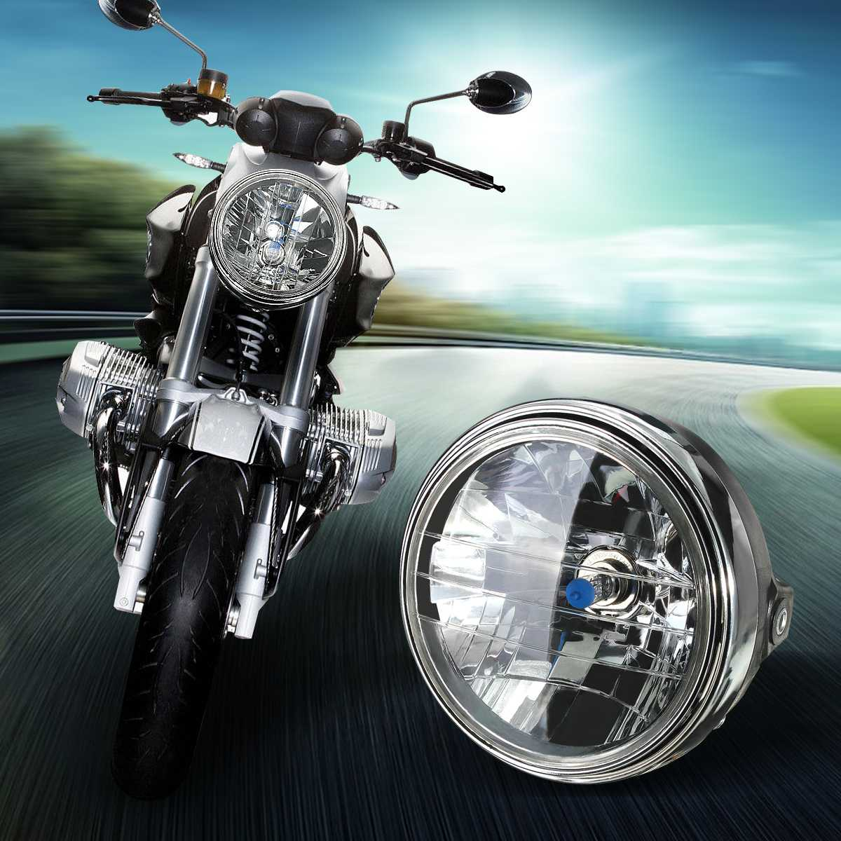 7 Inch Motorcycle Headlight Round H4 LED Head Lamp For Honda For Kawasaki For Suzuki For Yamaha