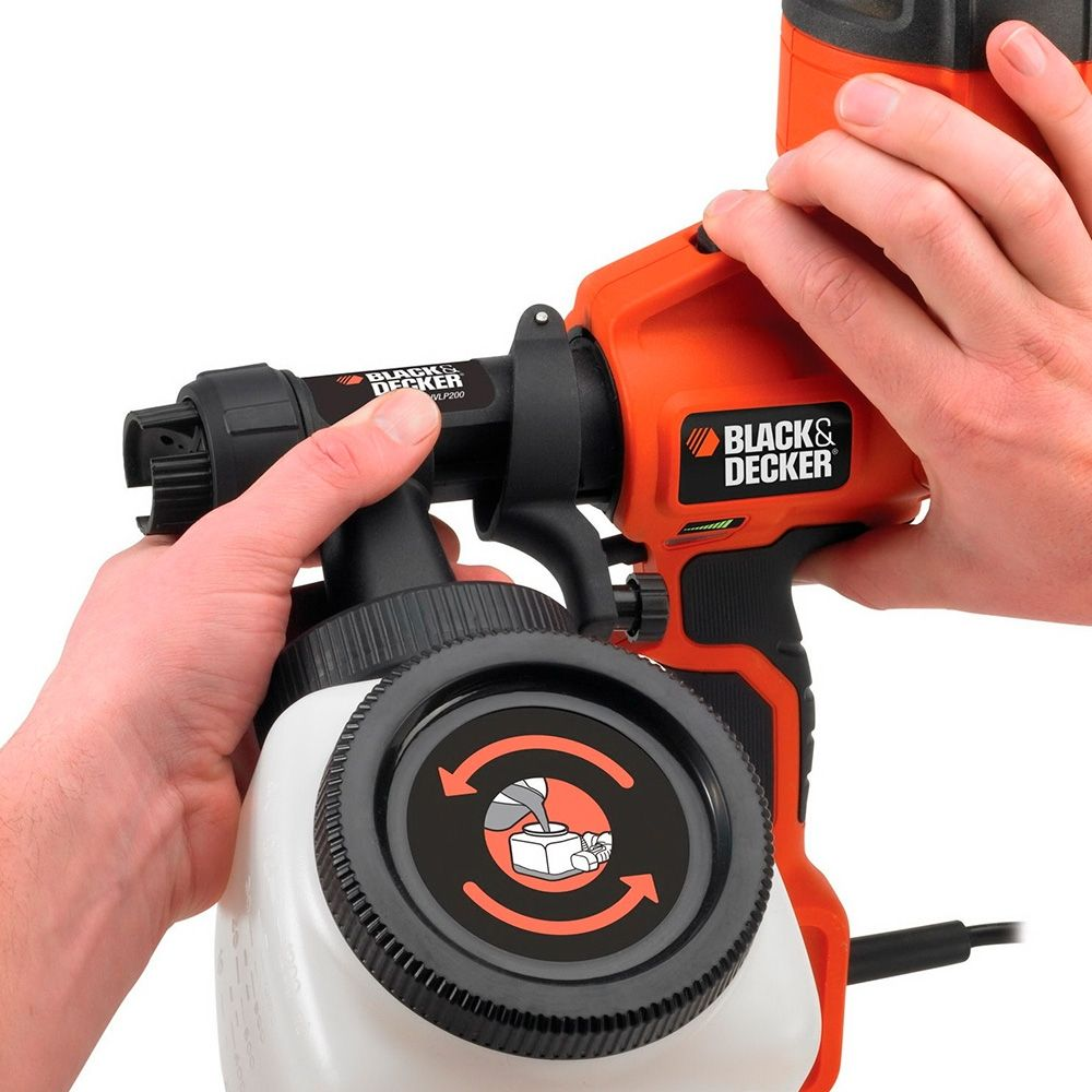 Резултат с изображение за US $76.86 |Spray Gun Black+Decker HVLP200 QS electric airbrush sand blasting sprayer power tools tool-in Spray