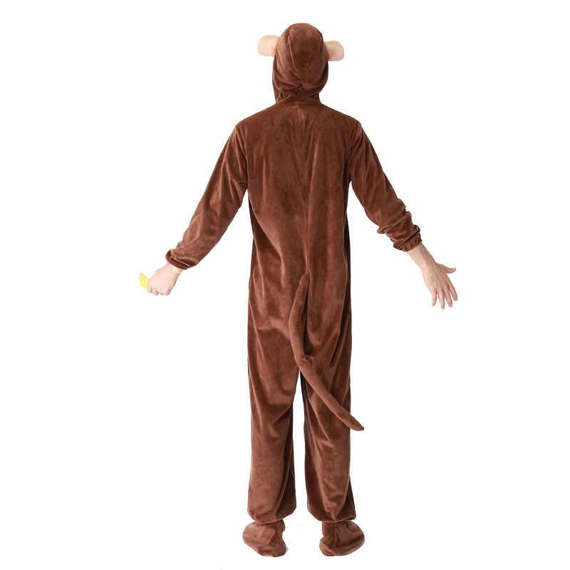 Семейная Одежда для взрослых детей костюмы для костюмированной вечеринки с обезьянкой на Хэллоуин, причудливая Пижама, комбинезон + обувь для детей, подарок на день рождения для мальчиков