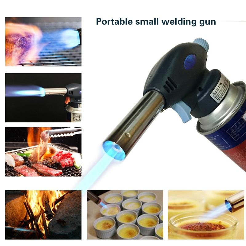 Portable Gaz Butane Torche de soudage BBQ lance-flammes en plein air à Souder Briquet brûleur