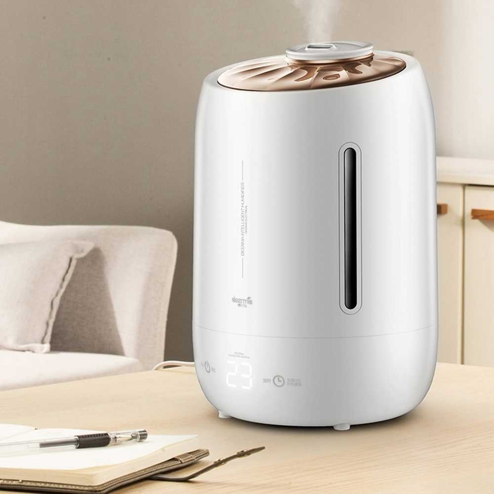Xiaomi Deerma Household Air Humidifier Air Purifying Mist Maker Timing With  Intelligent Touch Screen Adjustable Fog Quantity 5l| | - AliExpress
