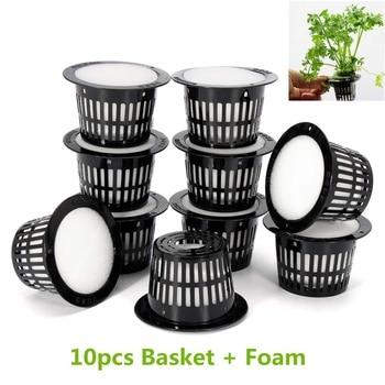 10 Pcs Mesh Pot Net Cup Basket Hydroponic System
