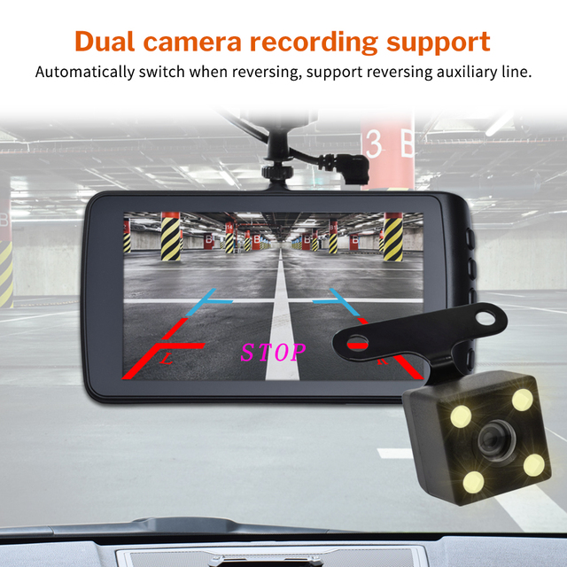 Dash Cam Car Camera DVR Driving Video Recorder Full HD Dashcam for Auto Registrator with Dual Cameras In Cars Black 1080p Box 5
