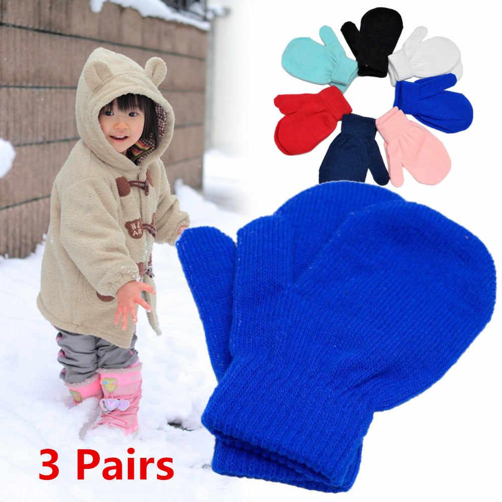 תינוק פעוט כפפות כפפות בנות חורף ילדי כפפות נגד שריטות יפה להתחמם חורף בני בנות/בני ילדים צבעוני כפפות