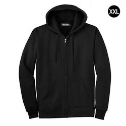 Men Full Zip Long Sleeved Hooded Sweatshirt Fashion Pure Color Autumn Winter All-match Clothes Coat Top Hoodies Men 4