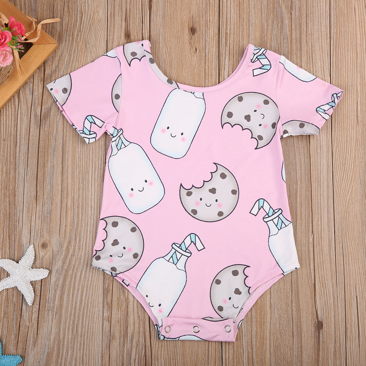 Summer Beach Style Lovely Toddler Infant Baby Girl Bodysuit White Blue Plaid Jumpsuit Clothes Outfits 0-18m Mother & Kids