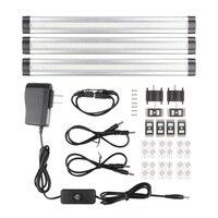 SMD3528 LED Under Cabinet Light Kit with Remote Control LED Hard Rigid Bar DC12V Output Led tube Cupboard Kitchen Light D0