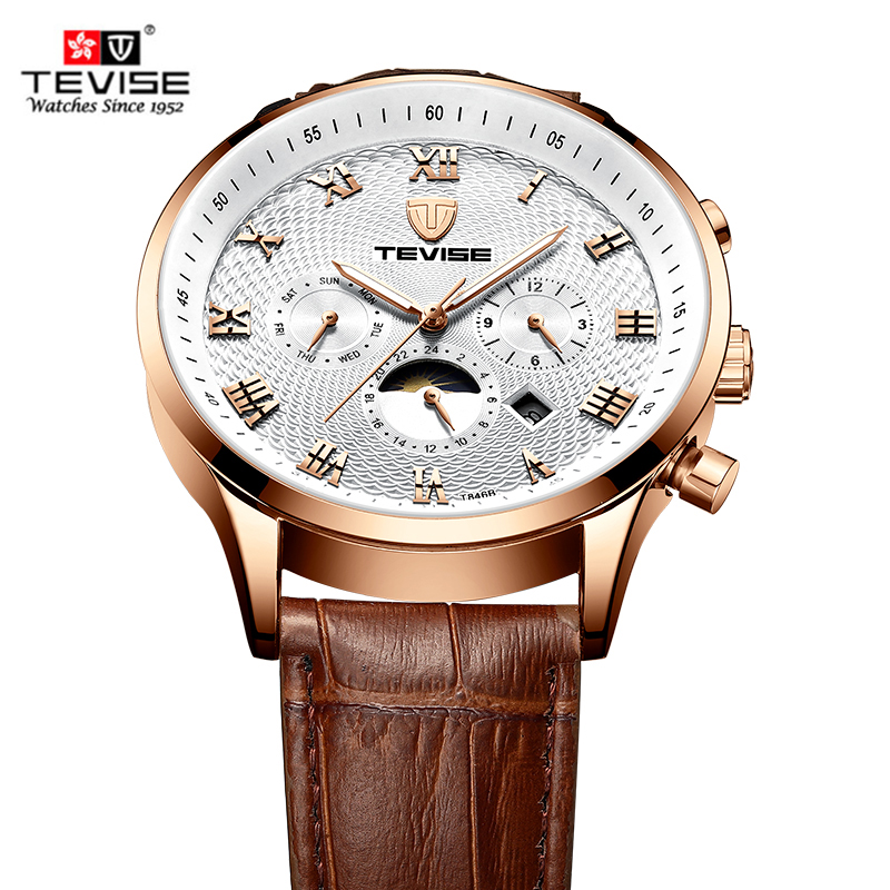 TEVISE Fashion Casual Men Watch T846a Leather Strap Brand Wrist Watch Waterproof Automatic Mechanical Luxury Relogio MasculinoTEVISE Fashion Casual Men Watch T846a Leather Strap Brand Wrist Watch Waterproof Automatic Mechanical Luxury Relogio Masculino