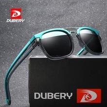 DUBERY New Fashion Sunglasses Men Women Polarized Square Frame Vintage Sport Driving UV400 Retro Sun Glasses Mirror Luxury Brand