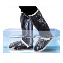 купить Retail And Wholesale With Relectors Waterproof Reusable Motorcycle Cycling Bike Rain Boot Shoes Covers Easy To Ride For Rider дешево