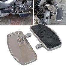 Paslanmaz çelik siyah kauçuk ön yolcu ayaklıklar donanım kiti için Fit Honda Shadow VT400 750 750C 750DC 1997 2003