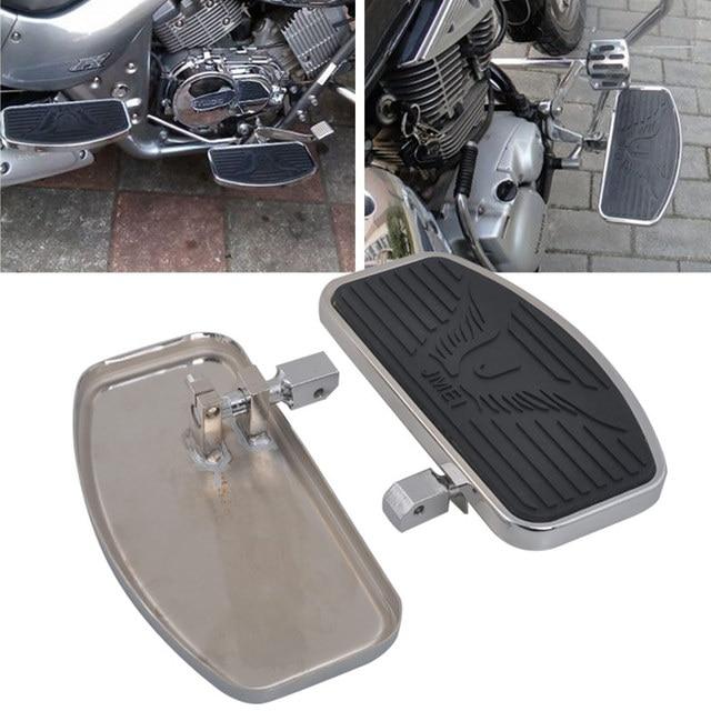 Stainless Steel Black Rubber Front Passenger Footboards Hardware Kit Fit For Honda Shadow VT400 750 750C 750DC 1997 2003
