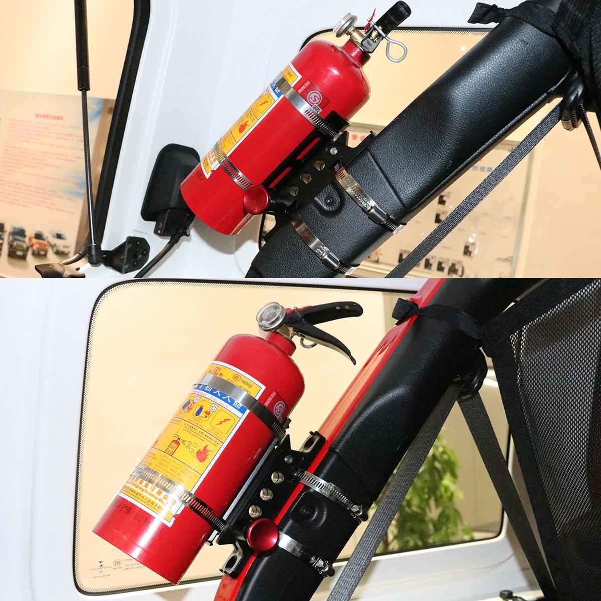 Adjustable Universal Roll Bar Mount Holder Clamps Aluminum ATV UTV For Ford F 150 Ranger T6