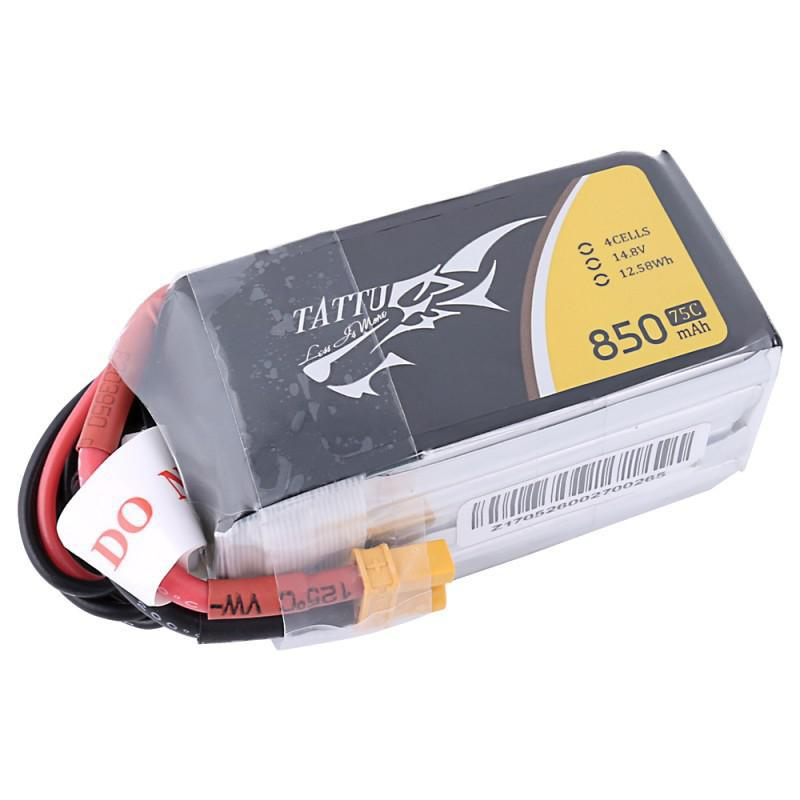 RCtown TATTU 14.8V 850mAh 75C 12.58Wh 4S XT30U-F Plug Lipo Battery for RC Racing Drone tattu 14 8v 1800mah 75c 4s xt60 plug rechargeable lipo battery for fpv rc drone quadcopter helicopter vs for infinity