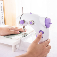 2019 Electric Portable Handheld Sewing Machines Mini Stitch Sew Needlework Crafting Mending Machine With Lamp Light EU Plug HWC