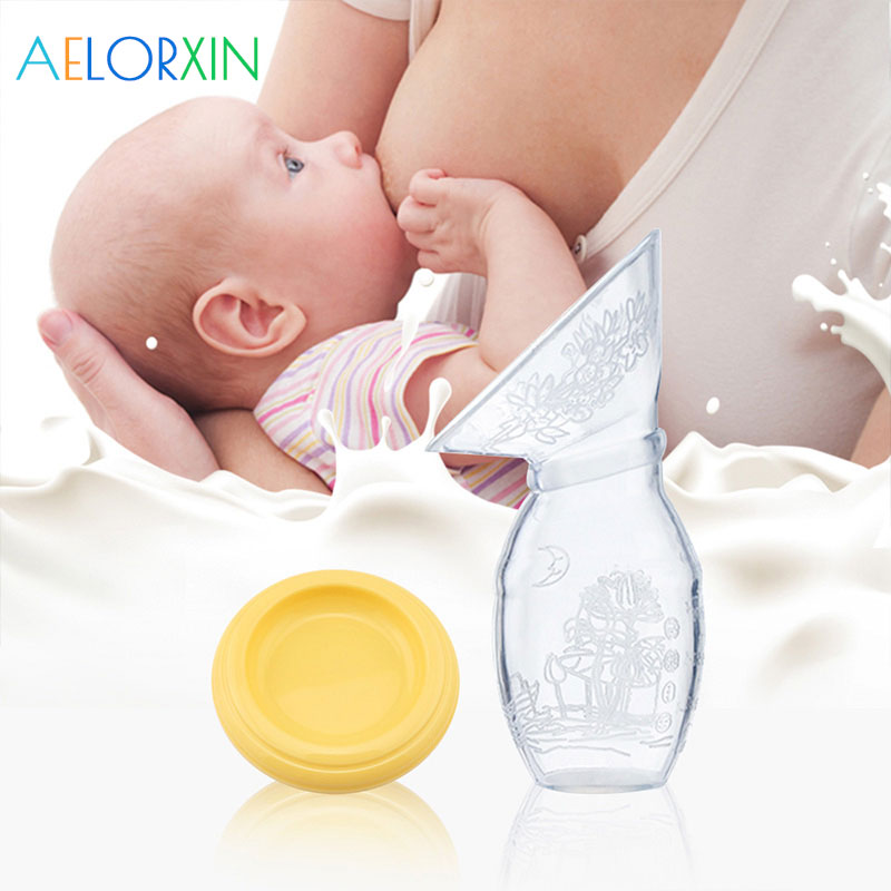 Womens Breastfeeding Manual Breast Pump Baby Feeding Milk Silicone Collector