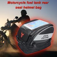 Touch Screen Motorcycle Tank Bag High Capacity Moto Helmet Bag Handbag Motocross Rider Rear Seat Bag Motors Motorcycle Bag