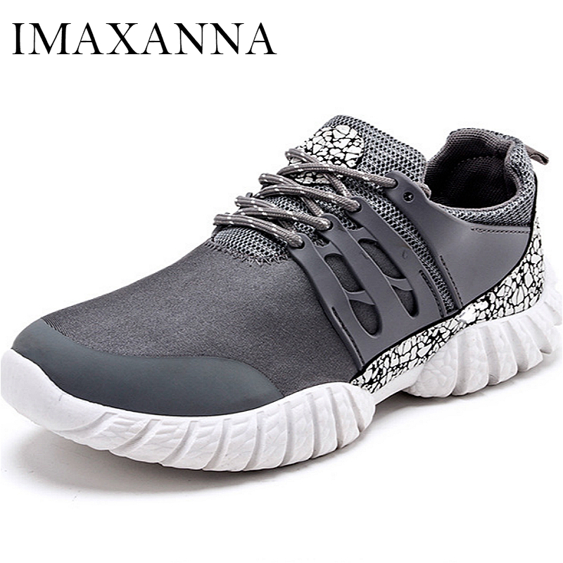 Orderly Imaxanna New Mens Sport Shoes 2019 Leather Lace Up Sneakers Man Sports Rubber Sole Running Men Flat Shoes Fashion Athletic Shoe Easy To Lubricate Underwear & Sleepwears
