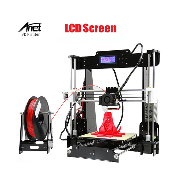 Fast Speed Anet Normal and Auto Leveling A8 3d Printer LCD Screen Arcylic Heating Bed Support
