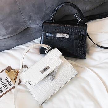 2019 Crocodile Crossbody Bags For Women Luxury Handbags Designer Famous Brand Bolsa Feminina Messenger Shoulder Bag Ladies Sac A