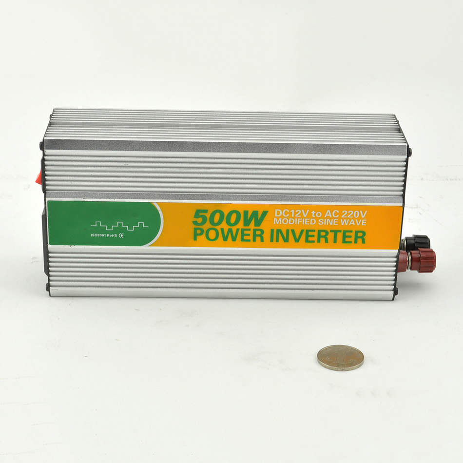 M500 121G dc to ac 110/120v modified LED sine wave 500 watt inverter for home power inverters12v power converter from China