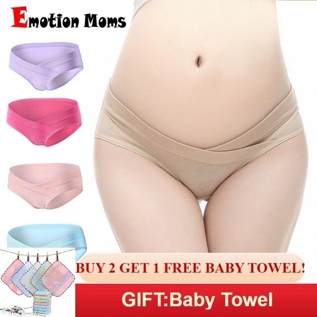 615eb4bd6 4Pcs Lot Cotton Pregnant Women Underwear U-Shaped Low Waist Maternity  Underwear Pregnancy Briefs Maternity Panties Women Clothes