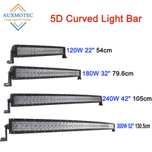 цена на Curved Led Light Bar 5D 22 32 42 52