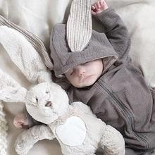2019 newborn girl jumpsuit baby girl boy clothes jumpsuit newborn baby clothes children long sleeve hoodie rabbit romper fashion baby boys romper rainbow baby clothes long sleeve cotton warm baby girl romper newborn winter clothes baby boy jumpsuit