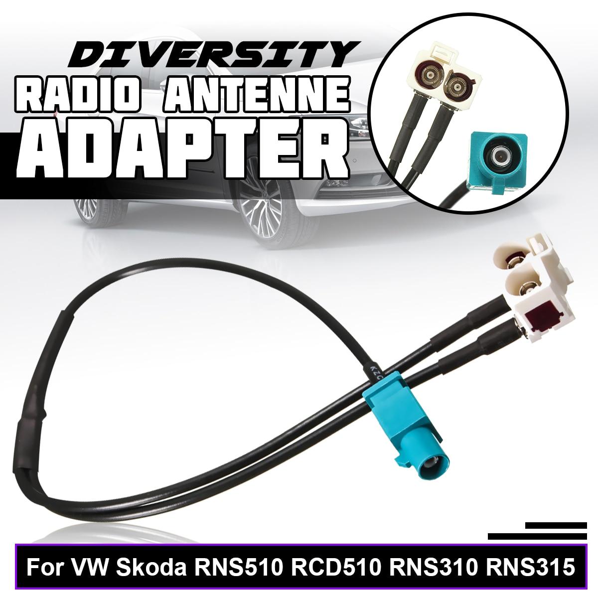 35cm For VW for Skoda RNS510 RCD510 RNS310 RNS315 Brand New Diversity Radio  Antenne Adapter FAKRA RG174