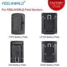 Batterie Platte für Feelworld DSLR Kamera Feld Monitor F570 T7 T756 FW703 FW279S FW760 FW759 FW1018SPV1 FW450 S450 M A737 Etc